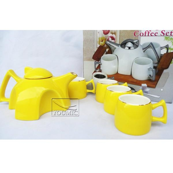 Glazed Chinese teapot set,special design and beautiful color 4