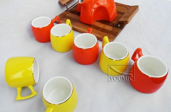 Glazed Chinese teapot set,special design and beautiful color 5