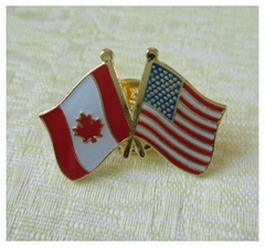 Crossing pin, metal pin, friendship pin, country flag pin