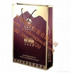 生产酒盒手提纸袋