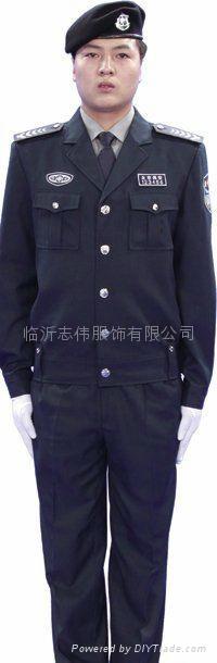 临沂保安制服保安标志服定做 3