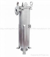 bag filter housing for lube oil filtration