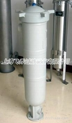 PP plastic bag filter housing