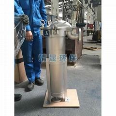 lubricating oil filter housing