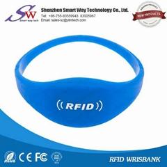 13.56mhz rfid silicone wristband
