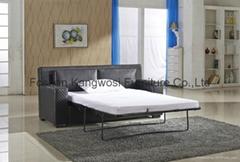 Black PU Leather Sleep Multi-function Sofa Bed