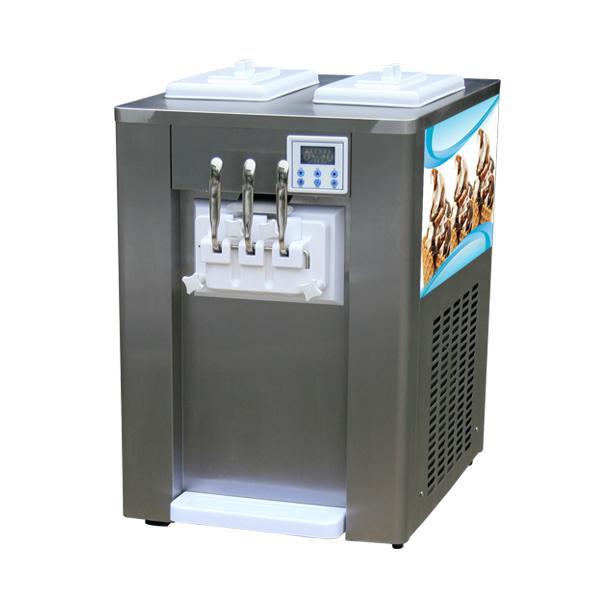 商用酸奶冰淇淋機 臺式小型軟冰淇淋機 三色軟冰激凌機