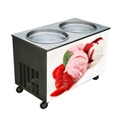 WF2170S Two Pans Stirring Ice Cream Machine, Double Pan Fried Ice Cream Machine