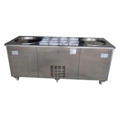双锅炒冰机 商用泰式炒冰淇淋冰激凌卷机 快速炒酸奶机