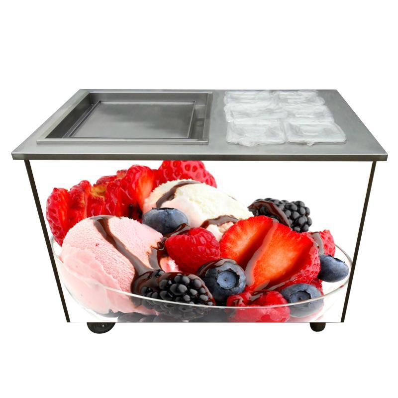 炒酸奶機商用 單鍋炒冰淇淋卷機帶6小配料盤 快速炒冰激凌機