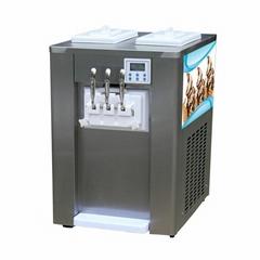 冰淇淋机台式 台式冰激凌机 商用小型软冰淇淋机三色