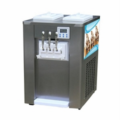 Hopper With Cooling Commercial Soft Serve Ice Cream Machine Table Top