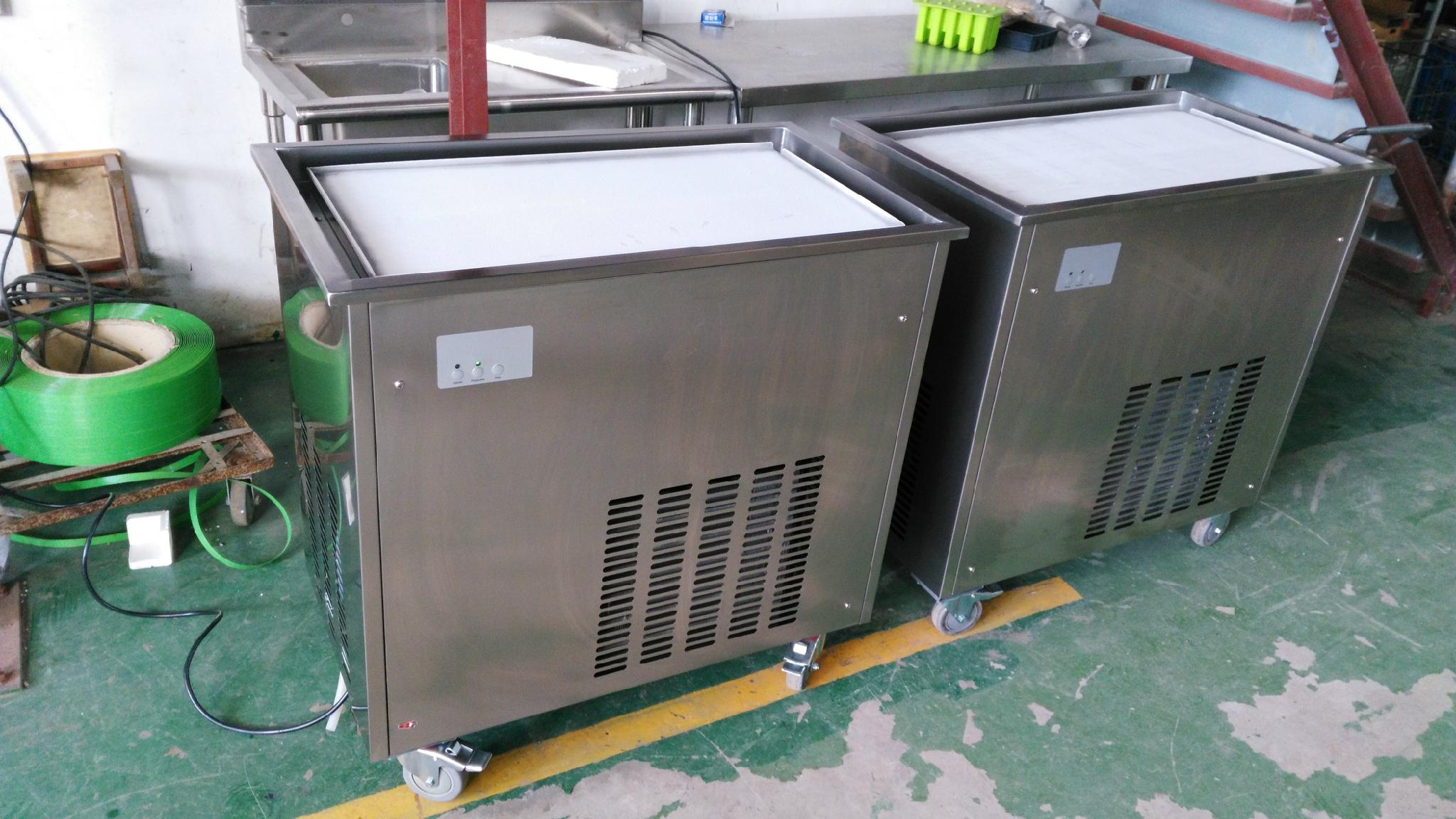 CB-100 Fried Ice Cream Machine Rolls, Fired Ice Cream Machine 7