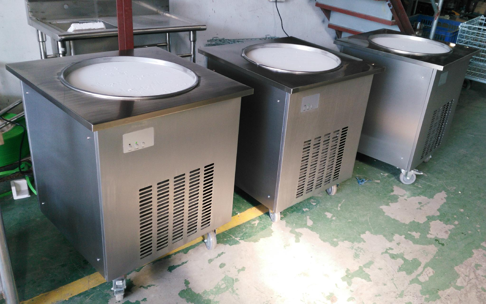 Good Price Commercial Thailand Rolled Single Flat Pan Fried Ice Cream Machine