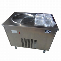 CE Good Price Thailand Style Flat Pan Roll Fry Ice Cream Machine