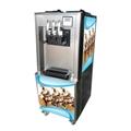 立式商用軟冰淇淋機 全自動小型甜筒雪糕機 三色冰激凌機
