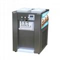 商用软冰淇淋机 台式软冰激凌机器 三色甜筒雪糕机