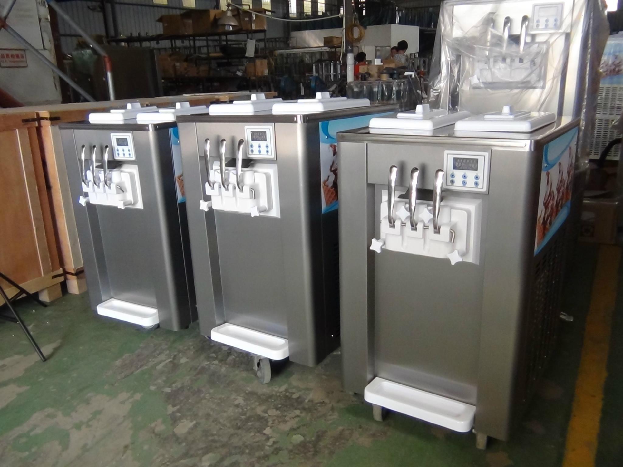 冰淇淋机商用甜筒雪糕机软冰激凌机器立式全自动