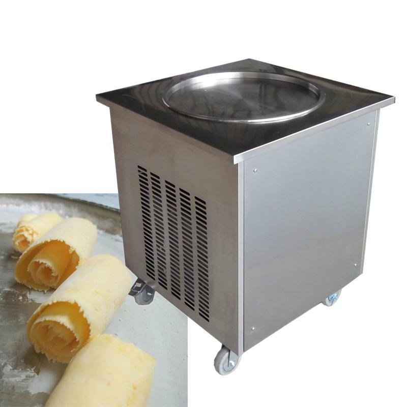 Stainless steel fruit yogurt single round square fry fried