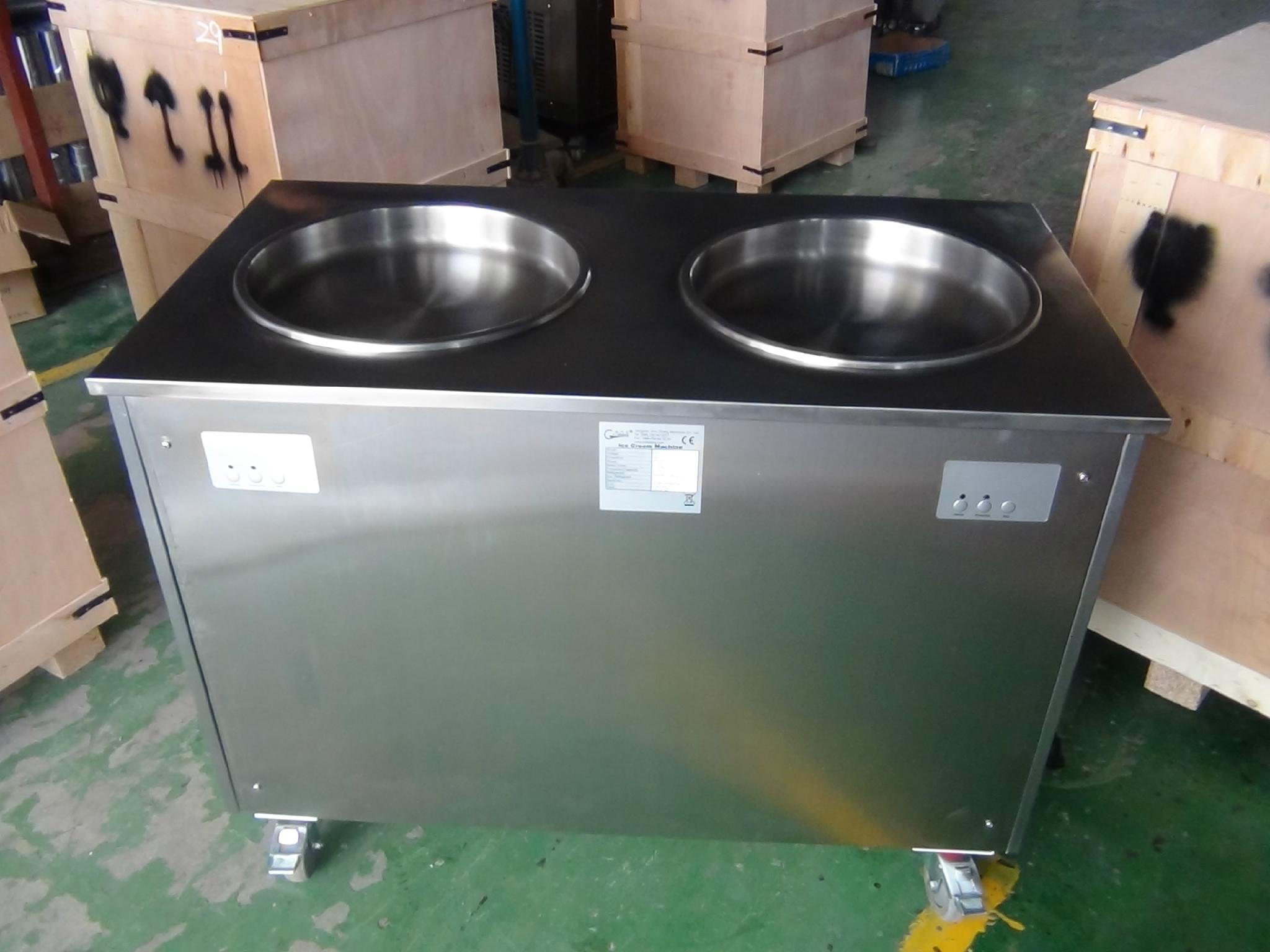 Egypt Double Pan Manual Fried/Roll Fried Ice Cream Machine For Sale Philippines