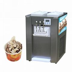冰激凌機商用臺式全自動冰淇淋機器甜筒機軟雪糕機小型