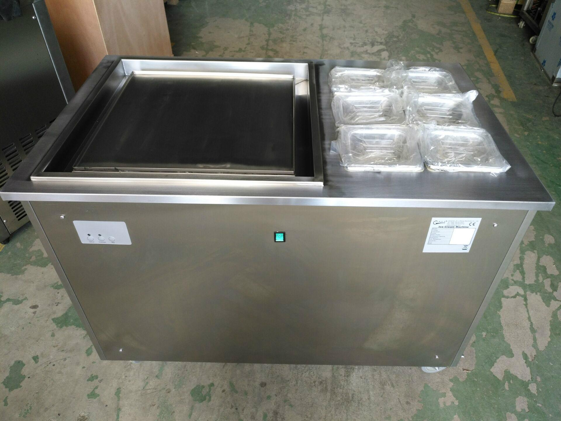 China Factory Supply Thailand Style Roll Fry Ice Cream Machine