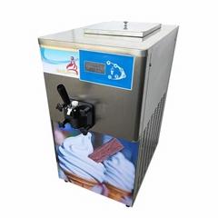 BQ115S单头甜筒软冰淇淋机 小型台式雪糕机带气泵高膨化