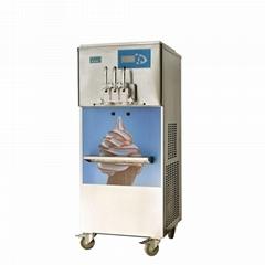 带气泵彩虹冰淇淋机 商用三色立式彩虹冰淇淋机器