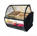 Commercial Use Italian Ice Cream Freezer Display For Gelato