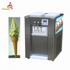Low Cost 3 Flavor Table Top Soft Serve Machine For Sale