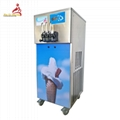 3 Flavours Soft Ice Machine For Making Soft Serve Ice Cream And Frozen Yogurt