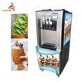 三色冰淇淋机商用 三头软冰激凌