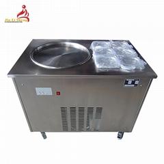 双控炒冰机 商用双锅炒酸奶机 小型泰式炒冰淇淋卷机