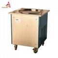 Flat Round Pan Fry Ice Cream Machine