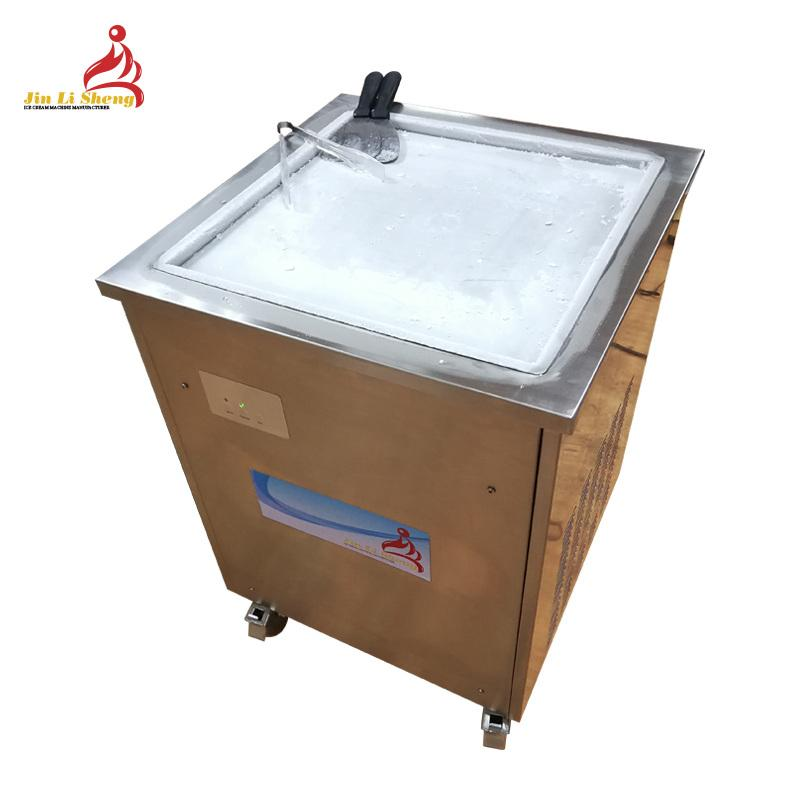 Hot Selling Model Wf900 Flat Pan Fry Ice Cream Machine with Panasonic Compressor