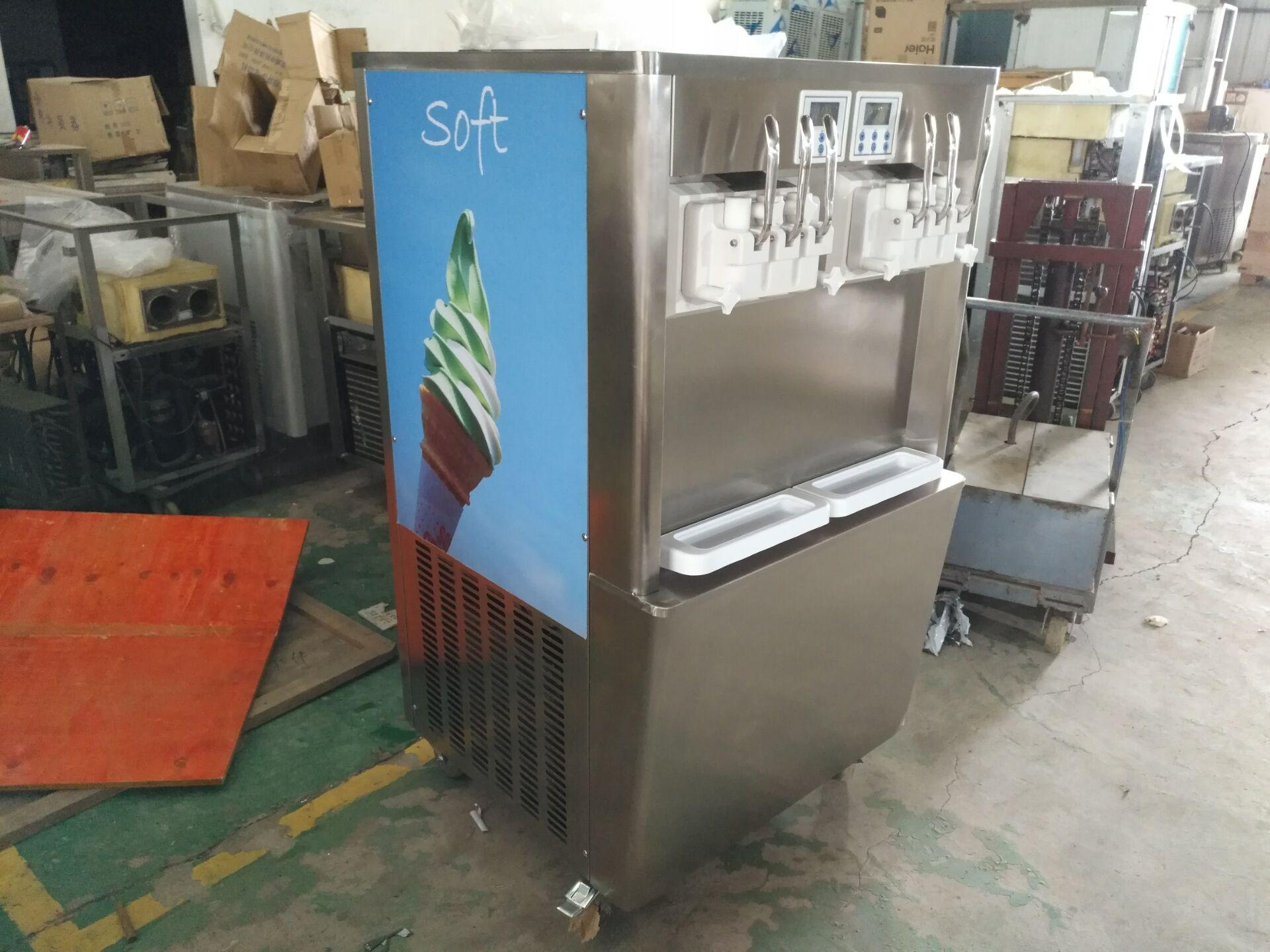 BQ638 6 Flavor Soft Serve Ice Cream Frozen Yogurt Machine