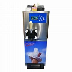 带气泵单头甜筒雪糕机 小型台式软冰淇淋机器