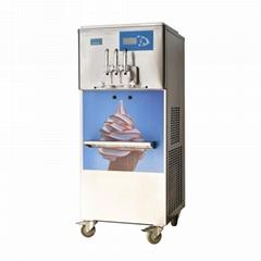 彩虹冰淇淋机 彩虹软冰激凌机 商用立式软冰淇淋机器