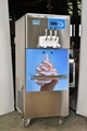 3 Flavor Commercial Soft Ice Cream Machine With Rainbow Syrup System