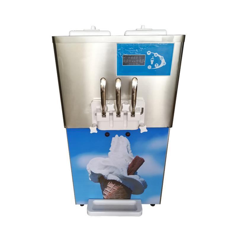 台式冰淇淋机 商用软冰淇淋机 三色冰激凌机
