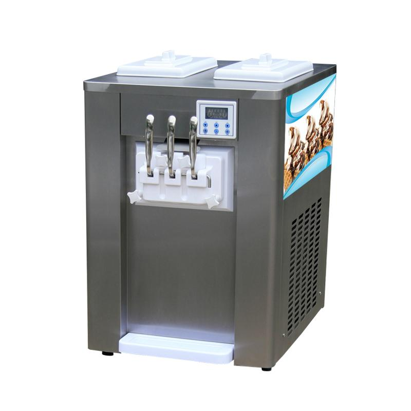 Big Capacity 3 Flavor Commercial Table Top Soft Ice Cream Machine For Sale