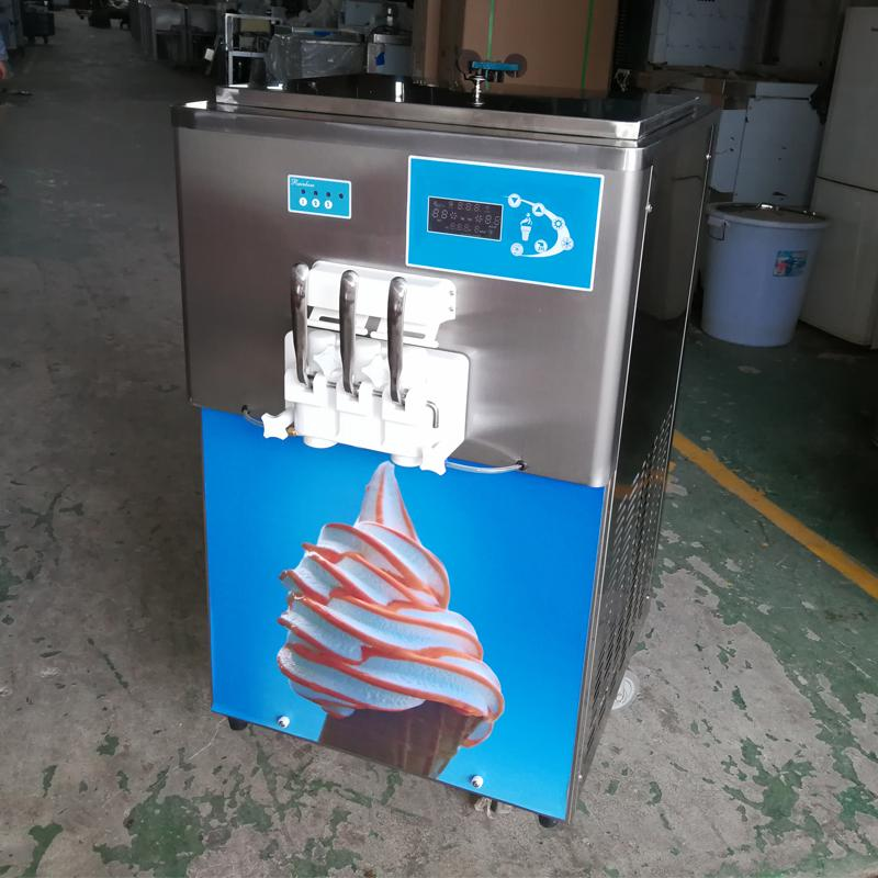 Commercial Tabletop Rainbow Soft Serve Ice Cream Machine With Air Pump