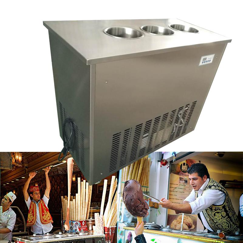 Jin Li Sheng Turkish Ice Cream Machine With 3 Barrels
