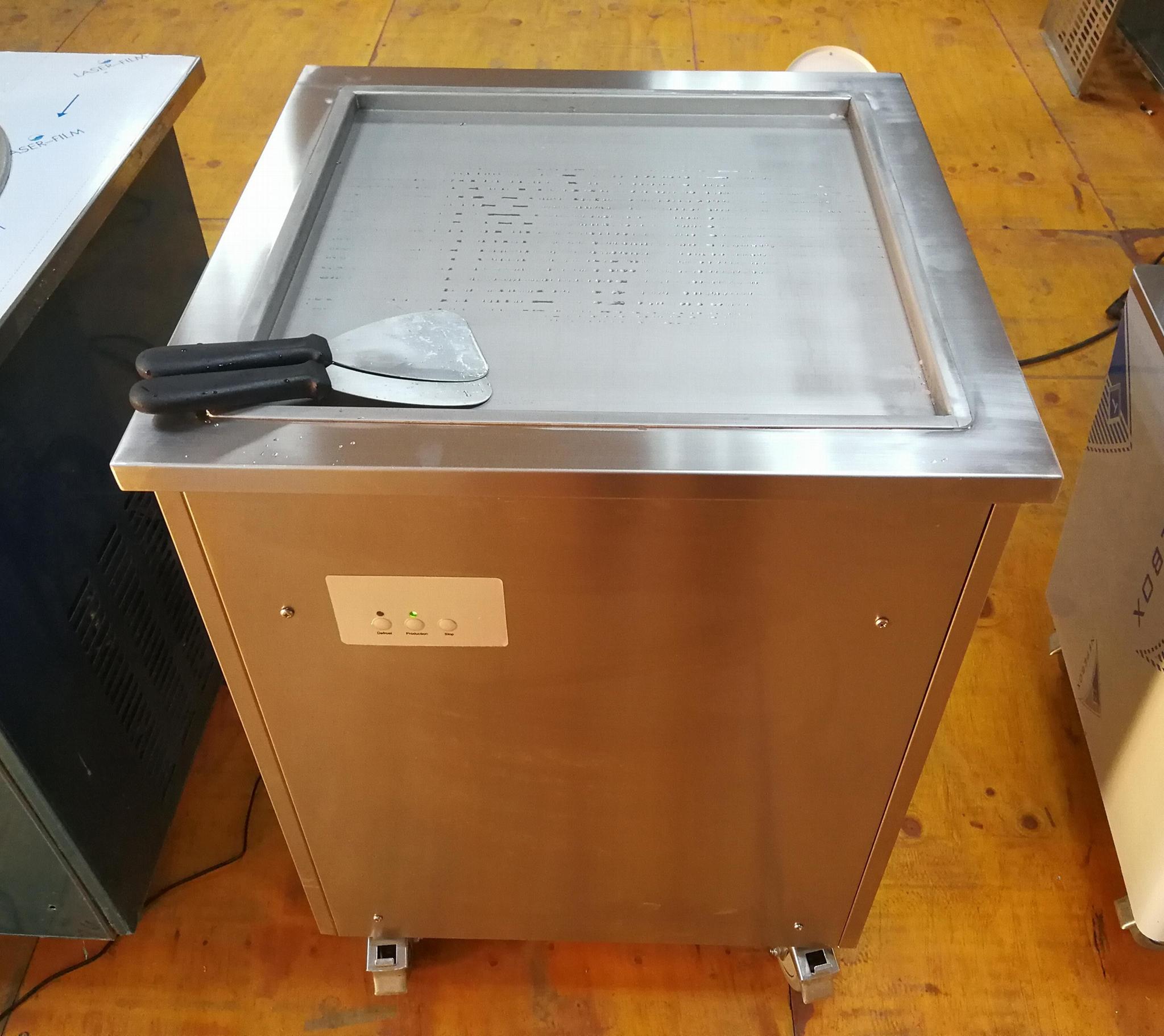 方鍋炒冰機商用 小型炒酸奶機 泰式單鍋炒冰淇淋卷機
