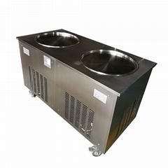 炒冰淇淋机多少钱一台,双锅炒冰机,商用炒冰淇淋卷机