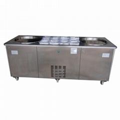 双锅炒冰机 商用炒冰机 炒冰机多少钱一台