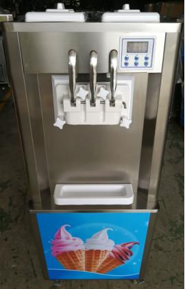 商用酸奶冰淇淋機 立式軟冰淇淋機器 三色雪糕機