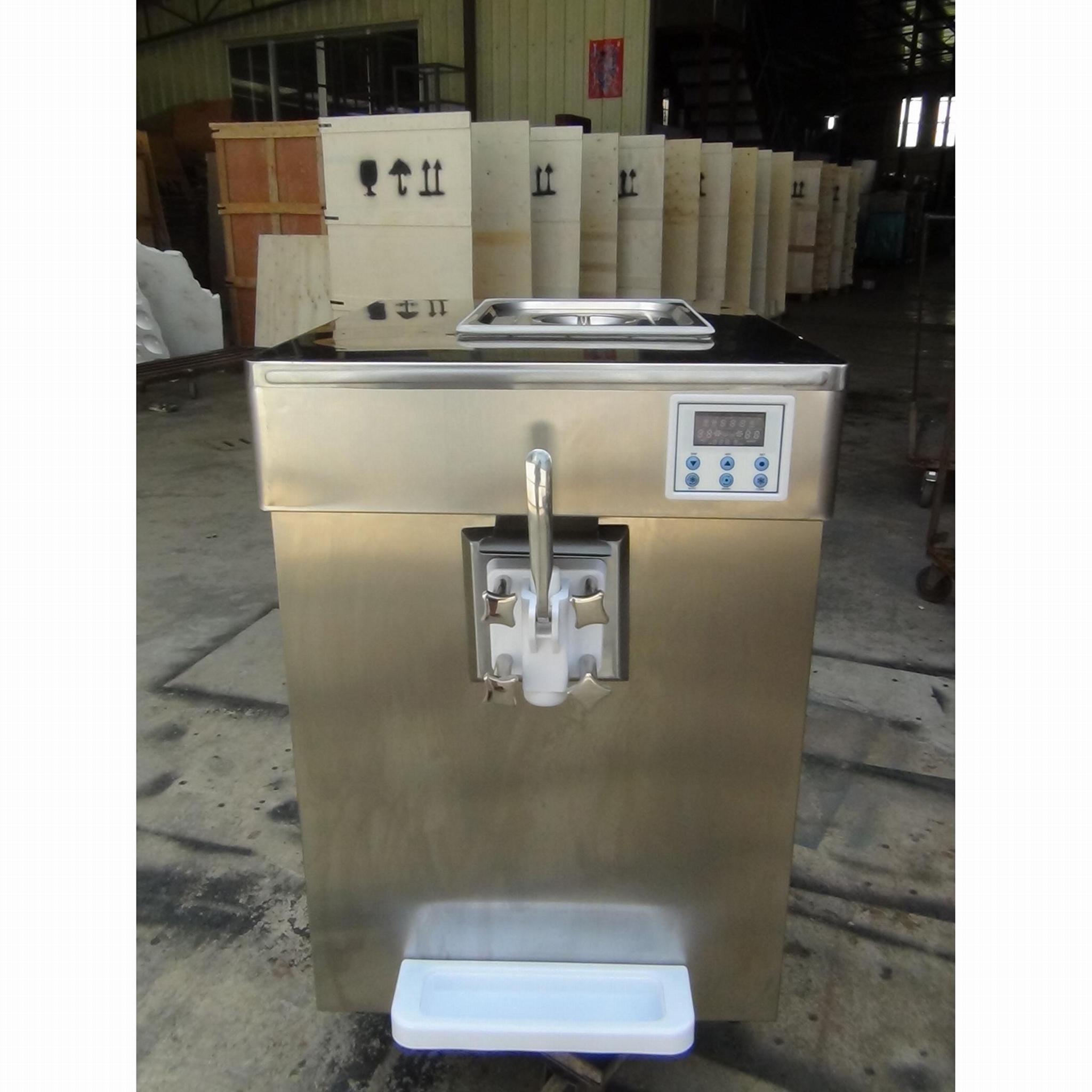 单头冰淇淋机 单口味冰激凌机 商用台式软冰淇淋机