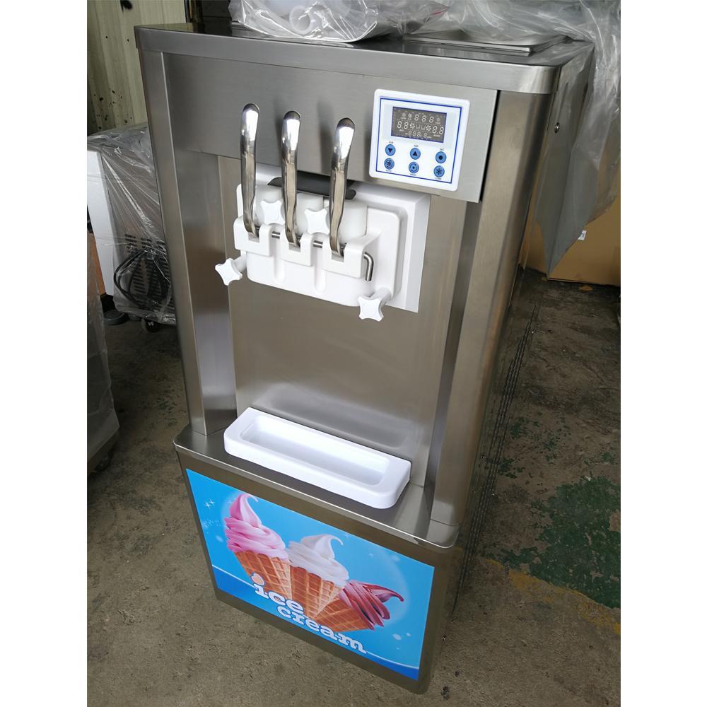 三色冰淇淋機商用 立式小型甜筒機 三頭雪糕冰激凌機器