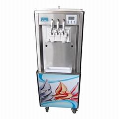 彩虹冰淇淋机 彩虹冰激凌机 商用三色软冰淇淋机器
